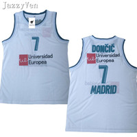 9182036bd915 New Design Mens  7 Doncic Throwback Basketball Jersey wears slovenija Team  Retro Stitched Shirts Europe 77 College Luka JERSEY embroidery