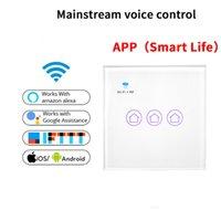 переключатель смартфона wifi оптовых-Смарт-переключатель RF WiFi поддерживает переключатель управления голосовой связью Alexa Smart Snycs с расписанием Android iOS Phone Wifi Control