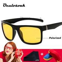 ingrosso occhiali da sole polarizzati giallo anti glare-Uomini Night Driving Occhiali da sole Polarized Night Vision Occhiali da vista 2019 New Classic Designer Brand Yellow Anti Glare
