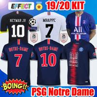 kulüp xxl toptan satış-2019 PSG Futbol Formaları Üçüncü Maillot Notre-Dame MBAPPE 2020 Ligue 1 şampiyonluk kulübü olarak 19/20 Paris tribute maillot de foot Futbol formaları