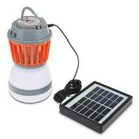 ingrosso bug di giardinaggio-2-in-1 LED portatile luce della zanzara della lampada dell'assassino della zanzara con il pannello solare USB che carica il repeller del parassita Bug Killer per l'escursione del giardino