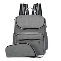 Wholesale women diaper men resale online - Nursing Bag USB Charging Anti Theft Backpack Large Capacity Baby Diaper Bag Men Women Outdoor Travel Backpack