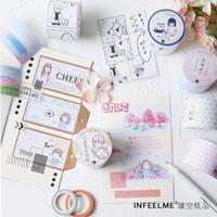 ingrosso nastro di carta giapponese-1 pz / lotto Adesivo decorativo in carta giapponese fai-da-te Washi Tape / adesivi per mascheratura 2016