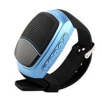akıllı saat eller serbest toptan satış-B90 Spor Bluetooth Hoparlör Hands-Free Çağrı TF Kart Oynarken FM Radyo zamanlayıcı Kablosuz Hoparlörler Akıllı İzle Zaman Ekranı
