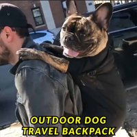 Wholesale puppies shoulder bags resale online - Pet dog carrying backpack travel Shoulder large Bags carrier Front Chest Holder for puppy Chihuahua Pet Dogs Cat accessories
