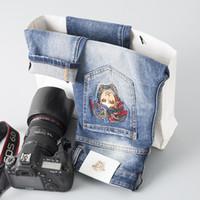 ingrosso jeans di moda coreani-Jeans Marchio Moda Marchio Moda Jeans Ricamo Bella Lavaggio Jeans Edizione Coreana Usura Piccoli Piedi In Pantaloni Vita309 #