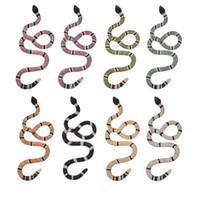 ingrosso ciondoli colorati-New Iced Out Coral Snake Pendant Snake Pendant Necklace Mens Copper Colorful Zirconia Color Gold Hip Hop Gioielli di moda