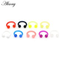 Wholesale pierced nipples jewelry for sale - Group buy Alisouy pc Acrylic Captive Bead Ring BCR Punk Nose Ear Eyebrow Lip Nipple Clicker Septum Piercing Body Jewelry Earrings