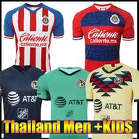 Wholesale black club america jersey for sale - Group buy New Club America Home Soccer Jerseys Thailand Liga MX Copa America Chivas de Guadalajara A PULIDO Football Shirts