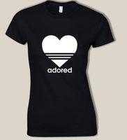 t-shirts schwarzes herz großhandel-Frauen T-Shirt Frauen Plus Size Tshirt T-Shirt Femme Tops verehrt und Herz Grafik T-Shirts Schwarz Sommer Tops für Frauen 2019 Xs - 3xl