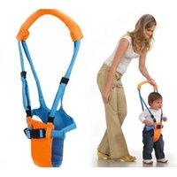 bebek yürümeye başlayan kemeri toptan satış-Yürüyor Bebek Güvenliği Öğrenme Yürüyüş Kemer Kayışı Rahat Koşum Yardımcısı Walker Kaleci Bebek Öğrenme Yürüteç Kanatları 30 adet