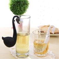 kuğu filtreleri toptan satış-Yaratıcı Çay Demlik Kuğu Gevşek Çay Süzgeç Herb Spice Filtre Difüzör Mutfak Alet Kahve Filtre Drinkware Aksesuarları