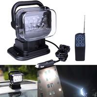 lâmpadas led 24v venda por atacado-Ponto do feixe 50W Luz de trabalho de 360 graus de rotação Pesquisa Luz do carro SUV Spotlight externas holofote condução remoto luzes lâmpada de pesca sem fio