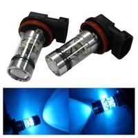 lâmpadas led h16 venda por atacado-H8 H9 H11 100 W LED Fog Lamp Light Lâmpadas de Nevoeiro Luzes de Condução 8000 K Ice Blue High Power Lâmpadas LED Car Acessórios de Iluminação de Veículos (Conjunto de 2)