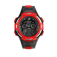 Wholesale new electronics for sale - Fashion mens new multi function sport digital led watches male students outdoor Luminous electronic alarm light date gift watch