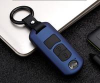 caso de la cubierta de la llave mazda al por mayor-Smart 2/3 botones Keyless Car Protect Shell cubierta de la caja dominante para Mazda 2 3 6 Axela Atenza CX-5 CX5 CX-7 CX-9 2015 2016 2017