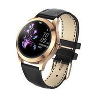 relógios inteligentes para meninas venda por atacado-Bluetooth smart watch para as mulheres menina esporte de luxo de monitoramento de freqüência cardíaca à prova d 'água feminino ciclo lembrete ios android smartwatch