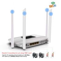 4g lte wireless router großhandel-Los 10pcs 300Mbps setzte 4G LTE Wifi Fräser, drahtlosen CPE Fräser des Innen-4G mit 4Pcs Antennen und LAN PortSIM Einbauschlitz PK HUAWEI B593 frei