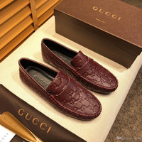 Wholesale rhinestone beading for dresses resale online - 19ss Brand men shoes Dress Shoes Leather material mens designer for men with Genuine Leather fashion casual men luxury shoes