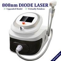 máquinas de gelo venda por atacado-2019 portátil diodo Laser Hair Removal máquina 808nm Ice Ponto Soprano Lazer Diode remover pêlos painfree permanentemente