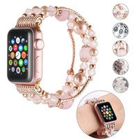 Fashion Agate Bracelet iwatch band Compatible wristbands for Apple Watch 38mm 40mm 42mm 44mm Series 1 2 3 4