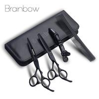 ciseaux à effiler professionnels achat en gros de-Brainbow 6.0 'Japon Barber Ciseaux Professionnel Coupe de Cheveux Amincissant Barber Cisailles De Coiffure Ciseaux Ensemble Outil De Styling De Cheveux
