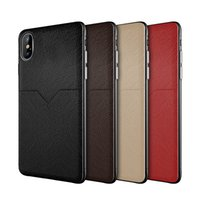 Wholesale brown leather cell phone cases for sale – best Luxury Designer Phone Case for iphone XR XS MAX X Plus Samsung S10e Plus Cell Phone Case Credit Card Slots Bag
