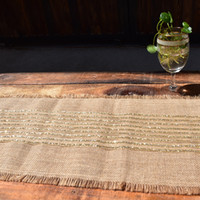 mesa de mantel de lentejuelas al por mayor-Taladro caliente del paño de lino Mantel naturales Manual de las lentejuelas corredor de la tabla de lino grueso decoraciones de la boda rústico de las lentejuelas de la venta caliente 22jhD1
