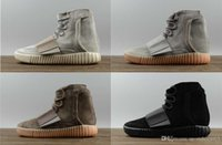 Hot selling Hot sales designer shoes Kanye West 750 boots Light Grey Brown sneakers Triple Black Grey sport shoes 750 Outdoor hiking jogging shoes