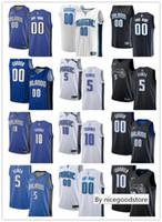 camisas de basquete azul venda por atacado-Mens Womens Juventude OrlandoMagicnba 00 Aaron Gordon Mohamed 5 Bamba 10 Evan Fournier costume Basketball Jerseys branco azul preto