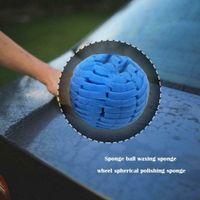 Wholesale sponges car wash resale online - Car Cleaning Tools Burnishing Foam Sponge Polishing Cone Ball Buffing Pad Car Wheel Hub wash Kit Yellow Orange Blue Black