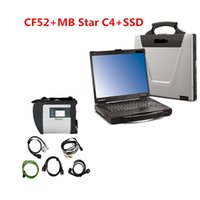 mb stern mitsubishi großhandel-CF52 + MB Star C4 SD Connect + SSD 2019.03 Diagnosesystem Compact 4 Mercede-Diagnosemultiplexer Für die MB-Diagnose