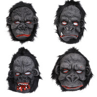 Wholesale scary halloween masks resale online - Scary Halloween mask orangutan mask horror role play silicone prop orangutan masquerade ball supplies styles T3I5626