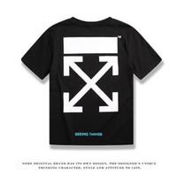 grüne übermenschhemden großhandel-Die Designer-T-Shirts für Männer wurden in Schwarz und Weiß entworfen, und die Designer-T-Shirts für Luxusmarken von OFF hatten kurze Ärmel