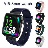 Wholesale bracelets for women turkish for sale - Group buy Real Heart Rate MI5 Smart Watch Men Women Bluetooth Call Music Blood Pressure Monitor Fitness Tracker Bracelet Smartwatch Sport Wristband