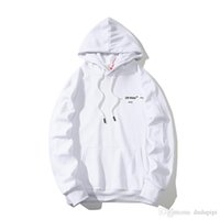 gefüttertes sweatshirt großhandel-Markendesigner-Hoodie WEG von Hoodie WEISS-Paaren einfache schwarze weiße gestreifte Zebralinie wildes Sweatshirt der Pullovermode privates kundenspezifisches hoodies8