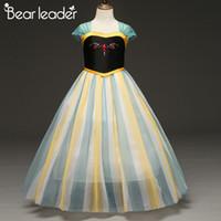 traje de niños oso al por mayor-Bear Leader Princess Dress New Brand Girls Party Gown Costume Kids Dress Cosplay Disfraces de lujo Girl Elegant Princess Canonicals