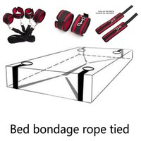 Wholesale adult beds online - Bondage Restraint Bed On System SM Sex Toy Tied Rope Cents Adult Men Women Butt Plug With Lower Body Anal Plug