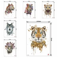 Wholesale Arm Temporary Tattoo D Animal Tattoo Stickers Fashion Style Body Art Removable Waterproof Tattoo Art Sticker HHA