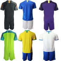 personalizar jersey de brasil al por mayor-2019-2020 Brasil Local Visitante Camisetas de fútbol Conjuntos Pantalones cortos G.JESUS COUTINHO Uniformes Personalizar Camisetas de fútbol Conjuntos Pantalones cortos de camisa para hombres