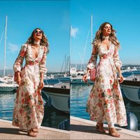 Elegant Long Sleeve Boho Parties Dress For Women Evening Gowns With Floral  Print Party Logue Maxi Summer Sunshine Dress Cheap Under 20$