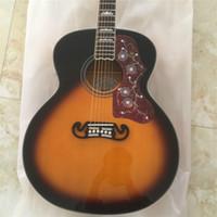 guitarra acústica pickguard al por mayor-Envío gratis de alta calidad de abeto superior Fishman EQ tortuga Pickguard J200 guitarra acústica Guitarra todo color Aceptar