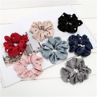 Wholesale sport accessories ring for sale - Group buy Women girl hair Bun wraps Scrunchy Ring Elastic Hair Bands Bobble Sports Dance Scrunchie Scrunchie Hairband R0646