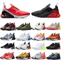 Wholesale running shoes 270 resale online - Running Shoes Designer Bred Medium Olive MultiColor Regency Purple Triple Black Women Mens Athletic Sports Sneakers Size With Box