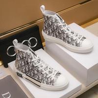 tendência de calçados casuais mens venda por atacado-Moda Mens Sapatos Casuais Respirável Plataforma Tendência Chaussures pour hommes Homens Sapatos Casuais de Luxo B23 High-Top Sneakers Em Oblique à Venda