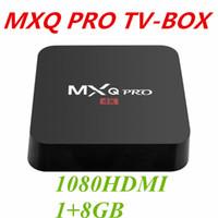 receptor de satélite newcamd al por mayor-2019 Hot MX2 MXQ PRO Amlogic S905W CUAD Core Android 7.1 TV BOX con 18.1 4K Reproductor de medios personalizado