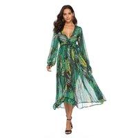vücut tulle toptan satış-Alıcı (tm) kadınlar yaz seksi vücut çiçek vintage tül plaj maxi kat-uzunluk parti gece kulübü robe dress