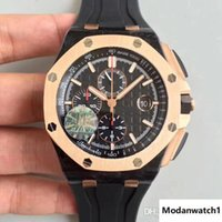 Wholesale watches good prices resale online - watch automatic best quality with movement carbon fiber and titanium case rubber strap in stock from JF with good price