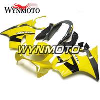 ingrosso giunzioni gialle f4i-Injection Full Fairings per Honda CBR600F4i 2004 2005 2006 2007 CBR600 F4i 04 07 ABS Plastic Cowlings per motocicli Gloss Yellow Silver Black