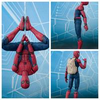 Wholesale spiderman toy model online - Avengers Spiderman Model cm Plastic Action Figures Cartoon Game Kids Spider Man Figure Toy Novelty Items OOA6034
